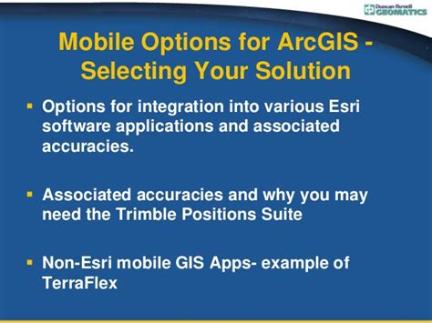 mobile options mobile options for arcgis selecting your solution