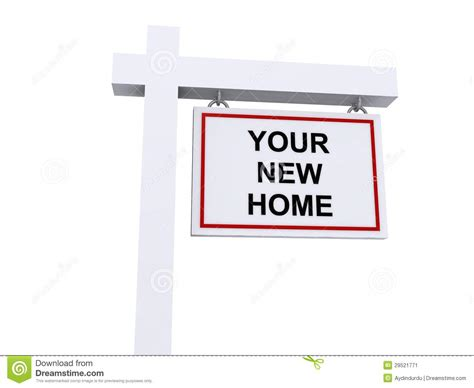 sale your house your new home for sale sign real estate house stock image