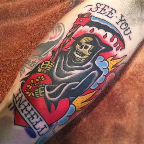 heartbeat death tattoo 13 traditional death tattoos