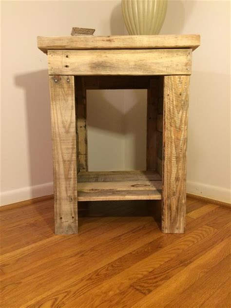 diy bed table diy pallet bedside table pallet furniture plans