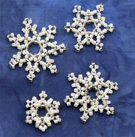 how to make a beaded snowflake kit for beaded snowflakes with instrutions by nancy eha