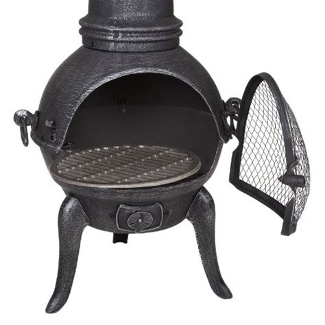 cast iron chiminea large large cast iron chiminea bbq sale