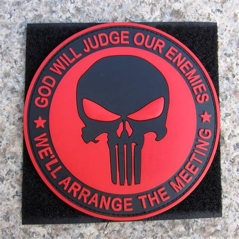 Rubber Patch God Will Judge Our Enemies Emblem Velcro Punisher seal team punisher images search