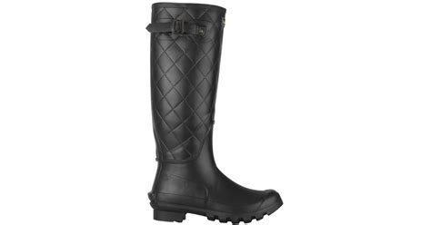 Quilted Wellington Boots by Barbour S Setter Quilted Wellington Boots In Black