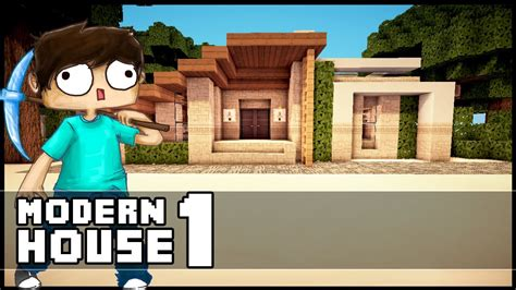 minecraft small modern house minecraft let 180 s build small modern house part 1 youtube