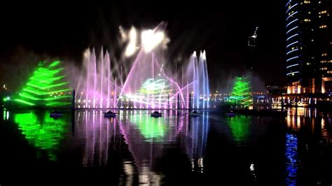 city light and water light and water dubai festival city mall