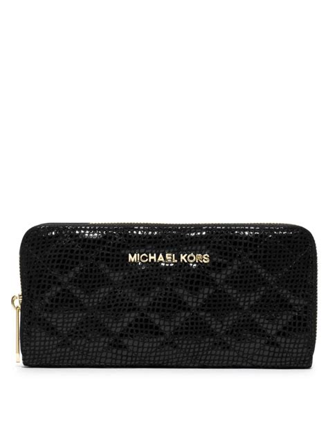Michael Kors Black Quilted Wallet by Michael Michael Kors Susannah Quilted Continental Wallet