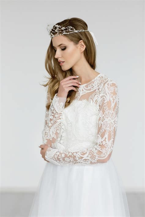wedding dress lace top wedding top bridal lace top sleeves bridal cover up