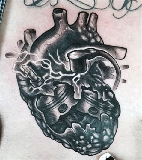 mechanical heart tattoo 45 mechanical engine tattoos