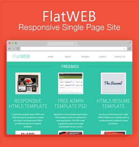free one page responsive html resume template 70 greatest free photoshop psd ui kits wireframes for smartphone apps egrappler