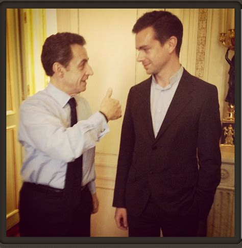 founders of twitter twitter founder jack dorsey s parisian tweets with sarkozy