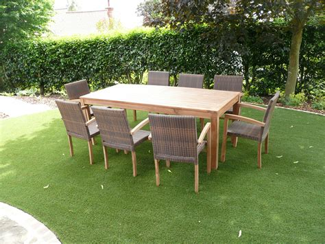 8 seater patio table cannes 8 seater teak rattan patio set humber imports