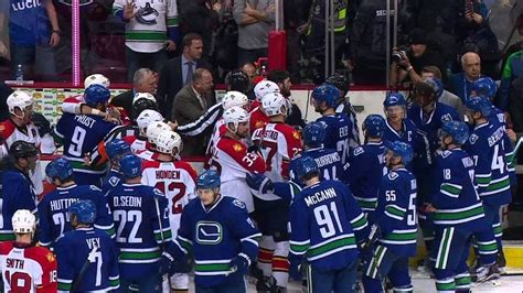hockey bench clearing brawls nhl bench clearing brawls bar south hockey