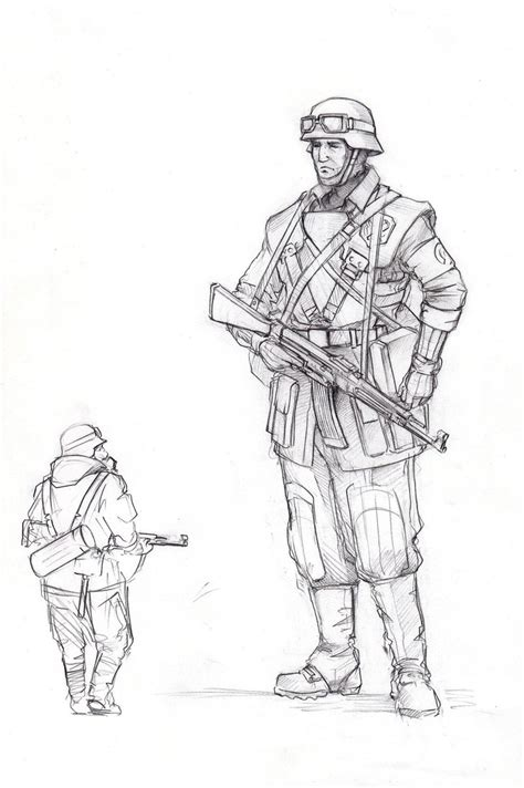 german army coloring pages german soldier by tugodoomer on deviantart