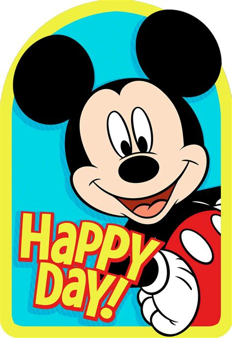 Mickey Top 1 mickey mouse best day birthday card greeting cards hallmark