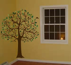 Wall Decals And Murals Decals By Digiflare 6 Ft Big Tree Brown Amp Green Wall