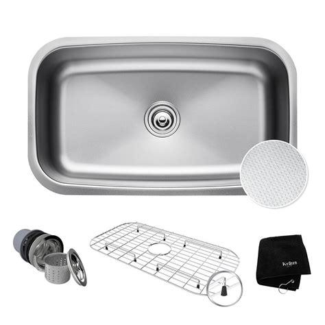 Kraus Outlast Microshield Undermount 32 In Single Basin Kitchen Sink Kit