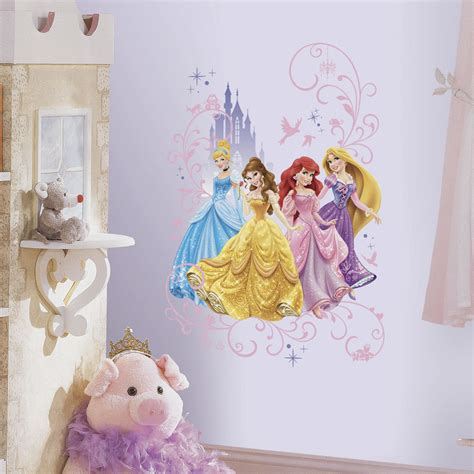 Disney Princess Wall Stickers disney princesses with castle wall decals princess