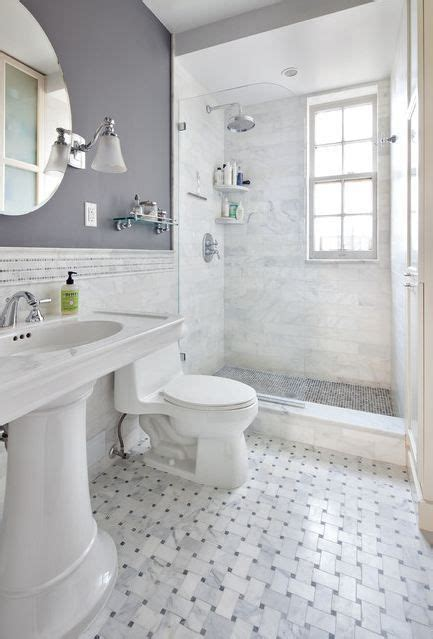 white and gray bathroom ideas marbled tile glass door showe gray bathroom i like the