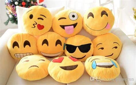 Two Pcs Pillow Cases 90436 pillow two items including emoji and three colors