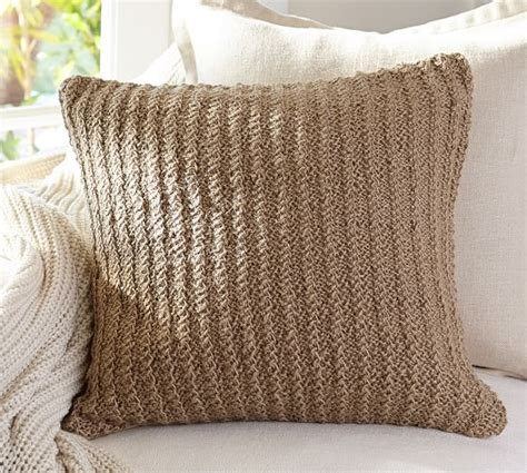 Woven Pillow Covers by Woven Jute Pillow Cover Pottery Barn