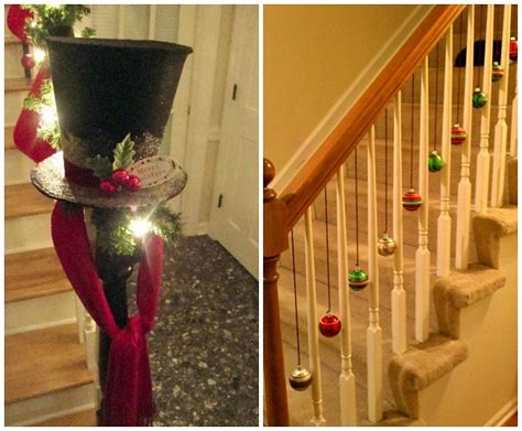 how to decorate with pictures fun ways to decorate stairs for christmas crafty morning