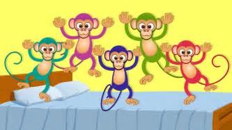 five monkeys songs and nursery rhymes for