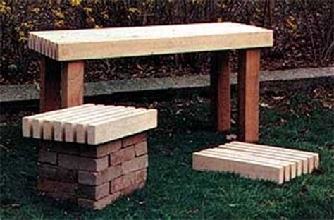 diy brick bench how to build outdoor garden benches 34 free plans plans 17 to 24