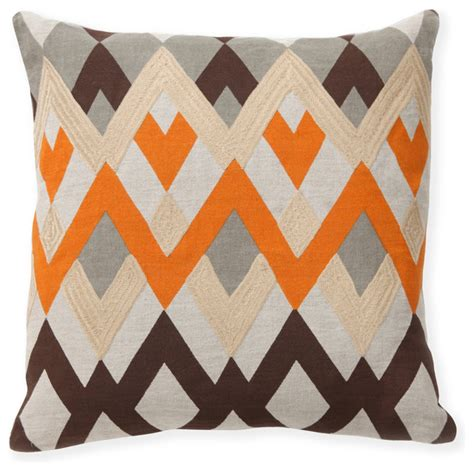 Accents Pillows by Echo Orange Decorative Pillows