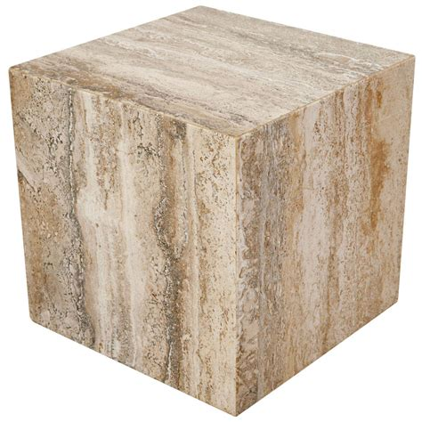 Cube Side Table Travertine Cube Side Table At 1stdibs