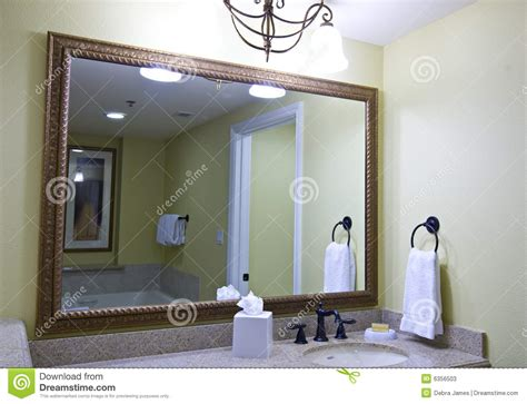 large bathroom mirror stock photos image 6356503