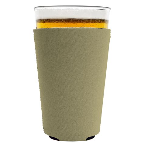 Blank Neoprene Collapsible Pint Glass Coolie Wholesale Coolies Pint Template