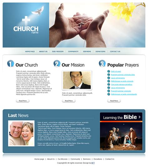 Free Religious Templates Religious Web Template Free Christian Website Templates