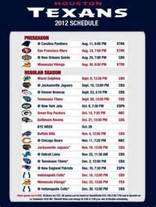 houston texans 2012 schedule looks favorable the pigskin