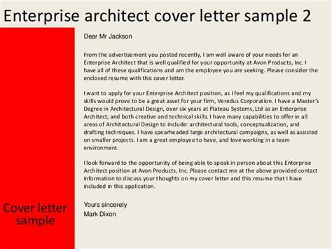 Cover Letter Architect Sle Enterprise Architect Cover Letter