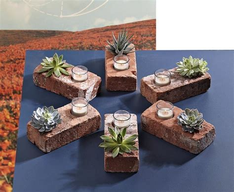 Planter Holder by Make A Brick Succulent Planter Candle Holder 187 Curbly