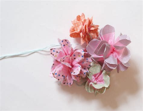 Flower Shirt Isn diy how to make washi flowers miss v viola
