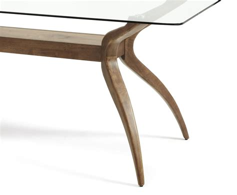glass and walnut dining table rushton glass and walnut rectangular dining table