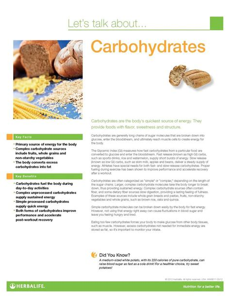 7 facts about carbohydrates facts about carbohydrates carbohydrate fact sheet