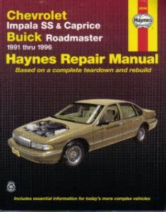 service manual hayes auto repair manual 1994 gmc safari lane departure warning service haynes chevrolet impala ss 7 caprice buick roadmaster 1991 1996 auto repair manual