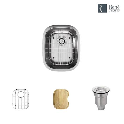 stainless steel undermount bar sink rene by elkay undermount stainless steel 15 in single