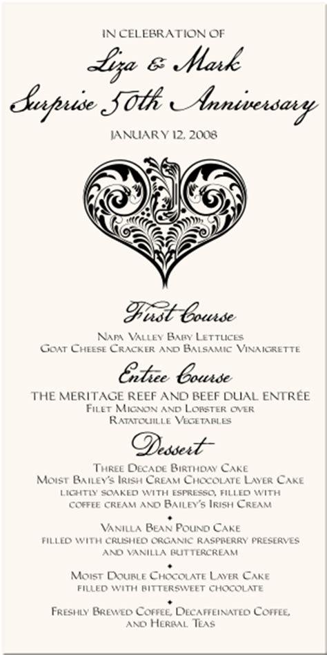 Wedding Anniversary Menu Ideas by And Hebrew Monogram Menu Cards Wedding