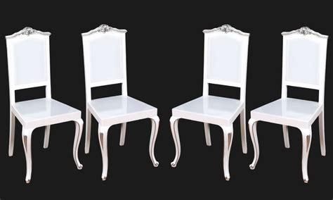 sedie barocche quattro sedie plexiglass luminose led barocche laccate