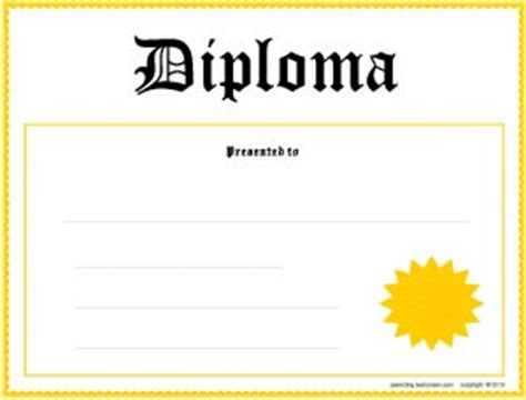 Printable Diplomas for all Grade Levels