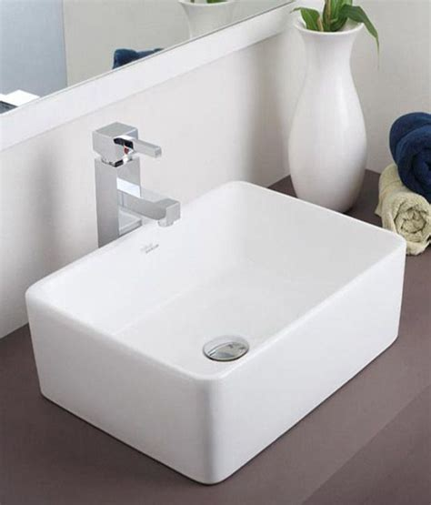 buy hindware table top basin rubbic ivory 91041i