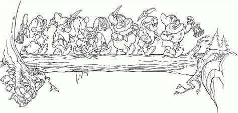 7 Seven Dwarfs Coloring Pages Seven Dwarfs Colouring Pages