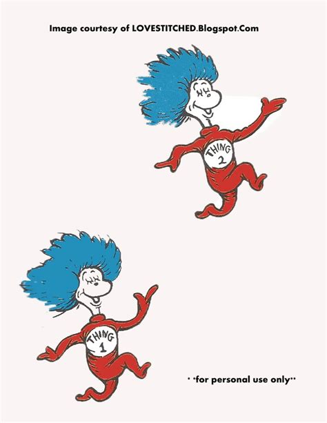 thing 1 and thing 2 coloring pages dr seuss printable