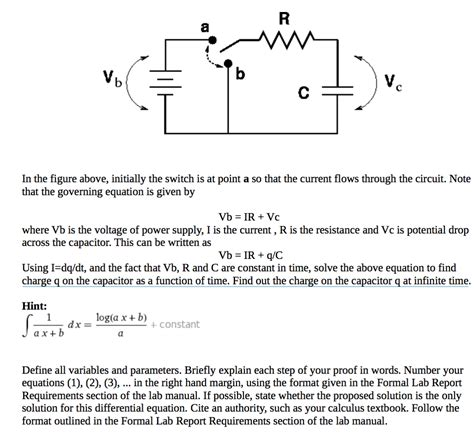how to find current flow through a capacitor in the figure above initially the switch is at po chegg