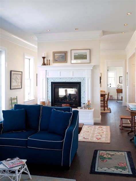 Living Room With Blue Sofa Navy Blue Sofa Living Room Transitional With Traditional Area Rugs Orange County Furniture