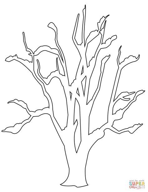 coloring page bare tree winter bare tree super coloring